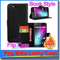 Cheap Fashion Flip Wallet Book Style PU Leather Case For France Wiko Lenny Leather Case Cover With Credit Card Pocket