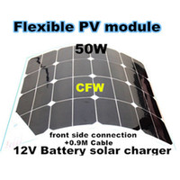 battery connection cables - Promotion W flexible solar panel with connection Box on the front side and M cable charge v battery