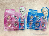 Wholesale NEW Frozen Anna Elsa Stamper Set Cartoon Character Princess Stamp New Novelty Toy Gifts set Stamps