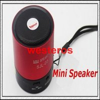 Universal best mini usb flash drive - Best FREE DHL Sjl Super Bass Metal Mini card speaker speakers usb flash drive audio mp3 computer colorful player radio