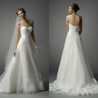 accessory sweetheart wedding - Watters Spring Wedding Dresses Strapless Sweetheart Fit and Flare Court Train White Lace and Tulle Wedding Apparel Accessories