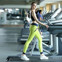 Wholesale 2015 Women Slim Yoga Sports Pants Elastic Wicking Force Exercise Pants Female Sports Elastic Fitness Running Trousers DP855057
