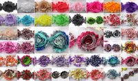 Wholesale 120pcs colors Nice quot baby girl chic shabby frayed chiffon flowers chiffon Rosette flowers DIY patch Trim