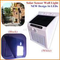 Wholesale 20X New Arrival LED Wall Lamp Outdoor Motion Sensor Solar Light LED Waterproof Garden Lighting Warm White Cold White