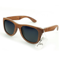wayfarer - 2015 New casual sunglasses Wooden frame temples galsses women wayfarer polarized sunglasses vintage simple classic designer wood gift box