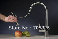 bathroom fauce - New Bathroom Basin amp Kitchen Sink Pull Out Spray Mixer Tap Chrome Fauce Z304
