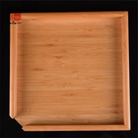 Cheap Wholesale-23 x 23 cm Natural Bamboo Kung fu Tea Tray High quality exquisite Bamboo Puer Tea Board For Showing Tea rectangle tea tray