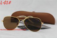 Glass gold sunglasses - 60pcs New Men Women Designer Sunglasses gold brown mm and mm Sunglasses mm Sunglasses With Box brown Case