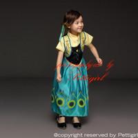american dress shops - Pettigirl Retail Drop Shopping New Anna Girls Dresses Frozen Children Princess Dress For Elsa Costume Summer Girls Outfits GD50611
