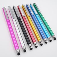 Wholesale 10 color metal phone pen capacitive pen silicone head can be replaced Smartphone Tablet Universal Stylus Pen