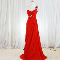 affordable modern design - Red Wedding Dress Vernassa One Shoulder Sequined Flower Bridal Gown Lace Up Draped Chic Design Affordable Dresses Casamento New