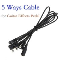 Wholesale 5 Ways Electrode Daisy Chain Harness Cable Copper Wire for Guitar Effects Pedal Power Supply Adapter Splitter Via DHL