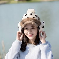 baseball cap protectors - Winter hat female winter cap outdoor baseball cap plus velvet women s thermal protector ear cap