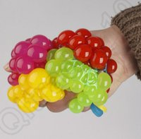 big rubber balls - 100PCS HHA732 Magic Squeeze Grape Soft Rubber Toy Lovely Vent Grape Ball Style Pop out Stress Relieving Squeeze Toy