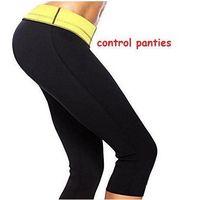 Wholesale Hot Slimming Shapers Stretch Neoprene Slimming Pants Leg Shaper Control Panties sports opp bag packaging Stretch leg Shapers CCA1512