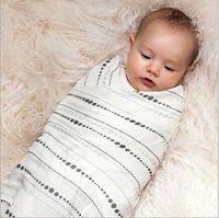 Wholesale 200Pcs BBA4407 CM Newborn Aden Anais Swaddle blankets Baby Cotton Muslin BathTowel Baby Bamboo Anais Blankets Sleeping bag sleepsacks