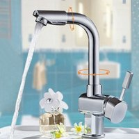 Wholesale 360 degree Rotating Hot And Cold Taps Kitchen Faucet Faucets Mixers Taps Single Lever Kitchen Sink Taps Sink Bathroom Faucet