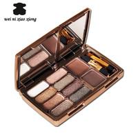 eyebrow shadow - 8 color Delicate diamond eye shadow Palette with Double effect eyebrow D nude makeup eyeshadow Disk