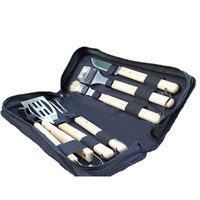 Wholesale 6Pcs Grill Sets Top Quality Stainless Steel BBQ Tools Barbecue Sets Churrasqueira Tools Barbacoa with Box