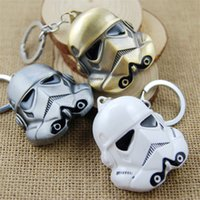 Wholesale SALE Lucasarts Star Wars Key Chain Figure D Storm Trooper Darth Vader Mask White Soldiers Metal Keychain Pendant Key Chain Chaveiro