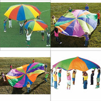 Wholesale 78inch Kids Children Play Rainbow Parachute Mat Outdoor Game exercise Sport
