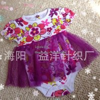 Wholesale Kids Romper Baby Dress Summer Lace Romper Children Clothes Kids Clothing Flower Jumpsuit And Rompers Girl Dress Baby One Piece Romper C576