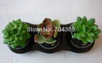 artificial tropical plants - Decorative flower pots planters artificial plants with vase bonsai tropical cactus fake succulent plant potted on the desk