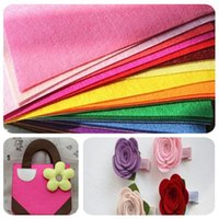 Wholesale 30x30cm DIY Non woven Polyester Yarn Felt Square Fabric Colors Child Kindergarten Decor Handwork Workshop