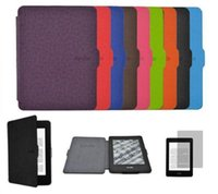 Wholesale Hot New Fashion Ultra Slim PU Leather Smart Case Cover for Amazon Kindle Paperwhite Multicolored to Choose