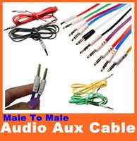 Wholesale 3 mm Aux Audio Cable Male to Male Stereo Car Extension Cord for Iphone Plus S Samsung S5 Note Smart Phone Ipod MP3 MP4 Good Quality
