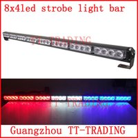 police strobe lights - 8x4 led Police strobe lights vehicle strobe light bar car warning lights led emergency strobe lights DC12V RED BLUE WHITE AMBER