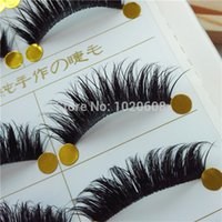 Wholesale handmade high quality Pairs Natural Looking Thick Black MInk False Eyelashes Charming Eye Lashes