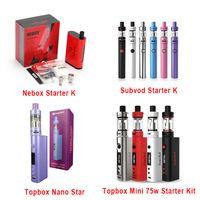 Kit Auténtico Kang Topbox Mini 75w Nano Starter Kit Kit Kangertech 60w TC Box Mod VS Subox Mini Nano Kit Joytech Evic VTC