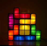 led toys - 2015 New LED light toys Classic and Innovative Style Stackable Tetris Pieces Shaped Lamp DIY D Puzzle Sliding Blocks Lights Strange Modules