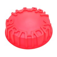Wholesale DIY Decorating Pastry Cooking Tool Kitchen Accessories Round Baking Cake Pan Mold Happy Birthday Letters Embossing Craft