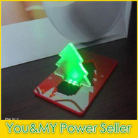 Wholesale New Promotion Christmas tree LED card light lamp creit card light keypress lamp high quality free shipDHL ship