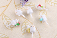 Wholesale Mobile phone dust plug Cute rabbits molang earphone jack dust cap plug charm for iPhone by post