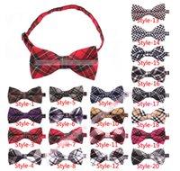 Wholesale SALE colors Men s Bowtie Plaid Cotton Tartan Bow Tie Necktie Adjustable Wedding Party