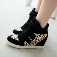 green synthetic - HOT New Brand Autumn Women Winter Shoes Leopard Suede Ankle Boots Heels Platform Wedge Sneakers colors Height Increasing