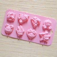 animations chocolate cake - DIY handmade chocolate bakeware club with Cartoon d Animation lollipop mold Cake mold bar Valentine s Day gift Housewife