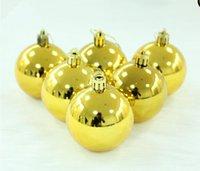 big christmas ornaments - Xmas Balls Baubles Gold Yellow cm cm cm cm cm New Year Christmas Balls Big and Small Navidad Balls