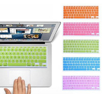 Wholesale Cheap Protective Soft Silicone Keyboard Covers Candy Color Keyboard Skin Cover For Macbook Air