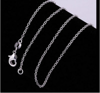 american press - Pure Silver Necklace Chain press polish Fine Chain single collarbone chain The Letter O Pattern CHAIN