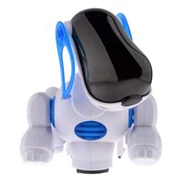 Wholesale Battery Operated Music Singing Lights Up Electronic Walking Pet Robot Dog Puppy Toys Brinquedos for Children Kids Baby toy Lovely Blue dog