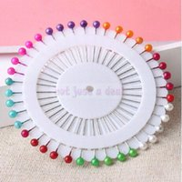 berry pins - 12 wheel Dressmake Sewing Pin Colorful Plastic Head Craft DIY Needle Berry Pins