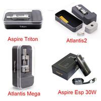 Atlantis mega Avis-100% original Aspire Triton réservoir Atlantis Atlantis 2 Mega tomizer ESP 30W Box Mod Batter Atlantis 2.0 Mega 15pcs Ohm réservoir sous
