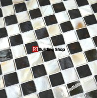 floor tiles - Sea shell mosaic kitchen wall tiles backsplash MOP088 black whitel mother of pearl tiles shell mosaic bathroom floor tile