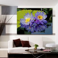 Cheap Modern Wall Canvas Landscape Oil Painting Lovely Purple Beautiful Flower Wall Art Picture Paint on Canvas Prints(No frame)