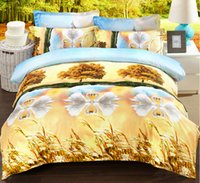 beautiful cotton products - colors beautiful new bedding D thickening reactive oil printing four piece Bedding set home textile product