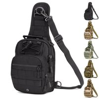 Wholesale Tactical Fly Fishing Camping Equipment Outdoor Sport Nylon Wading Chest Pack Cross body Sling Single Shoulder Bag Free DHL